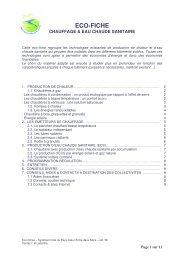 eco-fiche CHAUFFAGE& EAU CHAUDE SANITAIRE