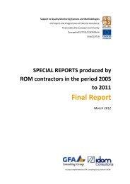 Final Report - Capacity4Dev - Europa