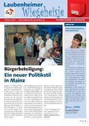Laubenheimer - SPD Hechtsheim - SPD Mainz