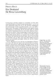 Ein Denkmal für Rosa Luxemburg