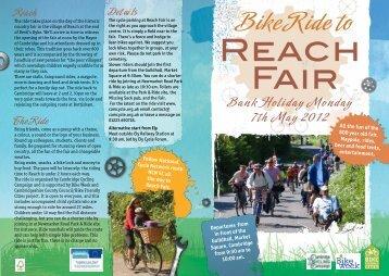 Bike Ride To Reach Fair - Cambridge Cycling Campaign