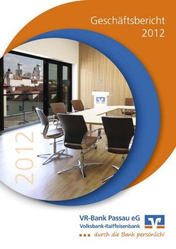 können Sie unseren aktuellen Geschäftsbericht einsehen - VR-Bank ...