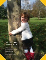 2011 Annual Report - Children's Cardiomyopathy Foundation