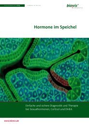 Hormone im Speichel - biovis´ Diagnostik MVZ GmbH