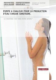 Pompe A Chaleur Pour la Production d'eau Chaude sanitaire.