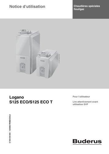 Notice d'utilisation Logano S125 ECO/S125 ECO T - Buderus