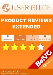 Product Reviews Extended User Guide - BelVG Magento Extensions ...