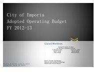 FY 13 Adopted Operating Budget - The City of Emporia, Virginia