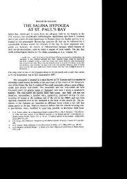 THE SALINA HYPOGEA AT ST. PAUL'S BAY