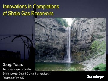 Innovations in Completions of Shale Gas Reservoirs - OIPA