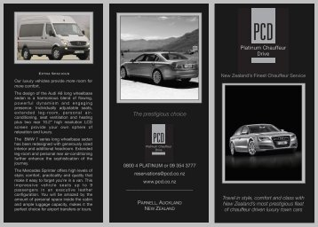 The prestigious choice - Platinum Chauffeur Drive