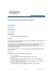 2009-11-23 THIRD PARTY - Enhanced availability ... - Amadeus