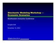 Stochastic Modeling Workshop — Economic Scenarios