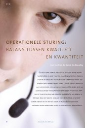 operationele sturing: balans tussen kwaliteit en kwantiteit - CCM