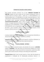Contrato de Locação e Outras Avenças - FFM - Fundação ...