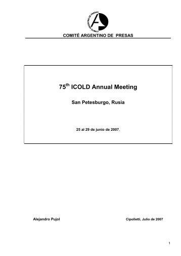 Saint-Petersburg 2007 - Comité Argentino de Presas