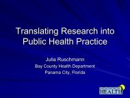 BCH Translating Research for Public Health Practice ppt