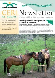CERI Newsletter 2/2006 - The Carpathian EcoRegion Initiative