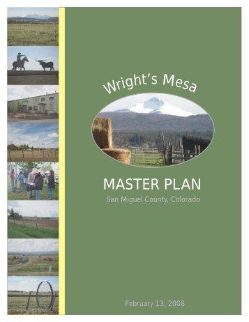 Wright's Mesa Master Plan - San Miguel County