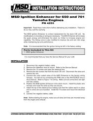 MSD Ignition Enhancer for 650 and 701 Yamaha Engines