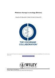Mistletoe therapy in oncology - Medizinische Klinik 5, Klinikum ...