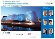 6. BPO- und Shared Services Summit
