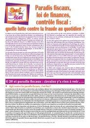 Paradis fiscaux, loi de finances, contrôle fiscal : quelle lutte contre la ...