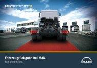 Fahrzeugrückgabe bei MAN. - MAN Truck & Bus Deutschland