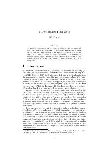 Statecharting Petri Nets - ResearchGate