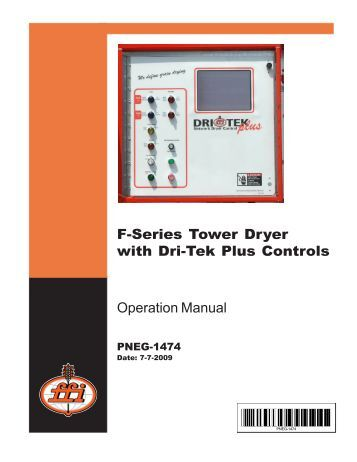 farm fans grain dryer manual