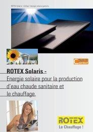 ROTEX Solaris - Energie solaire pour la production d'eau ... - Av2l