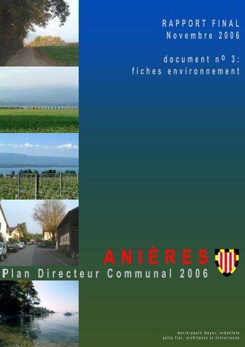 Fiches environnement - Etat de Genève