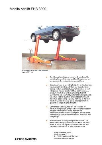 Mobile car lift FHB 3000
