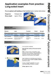 Application example for long-soled insert (PDF) - Nora