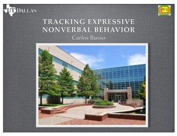 TRACKING EXPRESSIVE NONVERBAL BEHAVIOR
