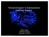 directed evolution.pdf - Department of Chemistry – Colorado State ...
