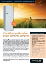Chaudière à condensation solaire combinée compacte