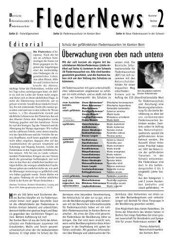 Fledernews 2 / 2002 - Fledermaus BE