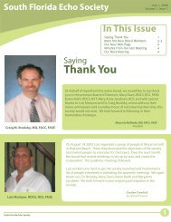 Newsletter Vol1.cdr - South Florida Echo Society