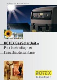 ROTEX GasSolarUnit – Pour le chauffage et l'eau ... - its-services
