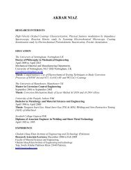 AKBAR NIAZ - Science Development Network
