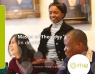 Master of Theology (in depth)