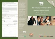 HBF Technical Conference 2010 - Housebuilder