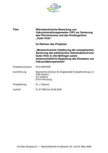 1688 KB - Energetische Sanierung der Bausubstanz - EnSan