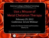 Chelation Course - American College of Medical Toxicology