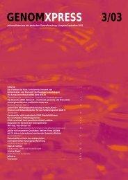 pdf-Dateien - Nationales Genomforschungsnetz - NGFN