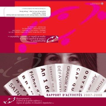 RAPPORT D'ACTIVITÉS 2007-2008 - Rcpeqc.org