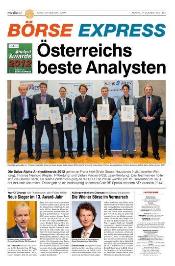 Sonderausgabe Analyst Award 2012 als PDF zum Download