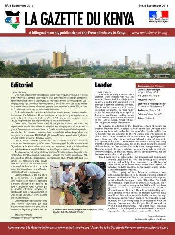 Leader Editorial - Ambassade de France au Kenya