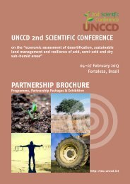PARTNERSHIP BROCHURE - UNCCD 2nd Scientific Conference